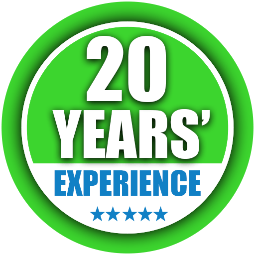 20 years experience icon
